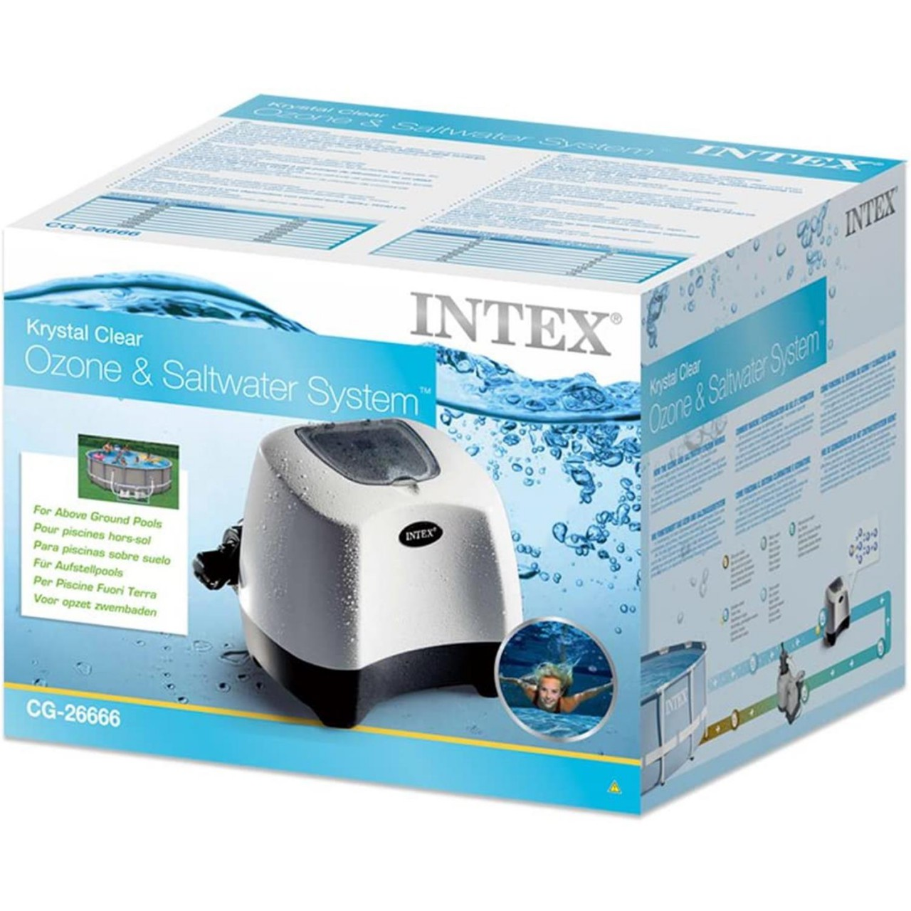 Intex 26666 Ozon Generator Chlorinator Salzwassersystem Salzwasseranlage Pumpe