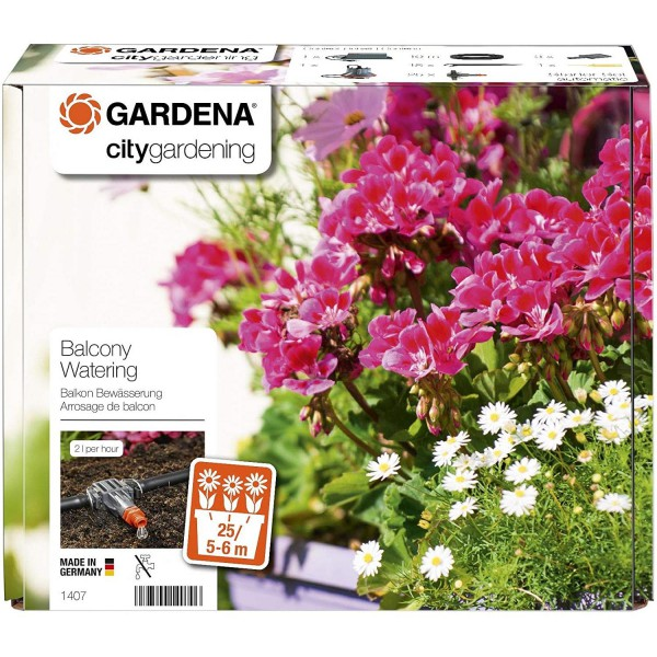 Gardena 1407-20 Vollautomatische Blumenkastenbewässerung Balkonbewässerung