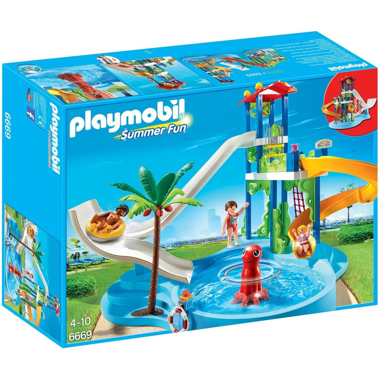 Playmobil 6669 Aquapark mit Rutschentower Summer Fun