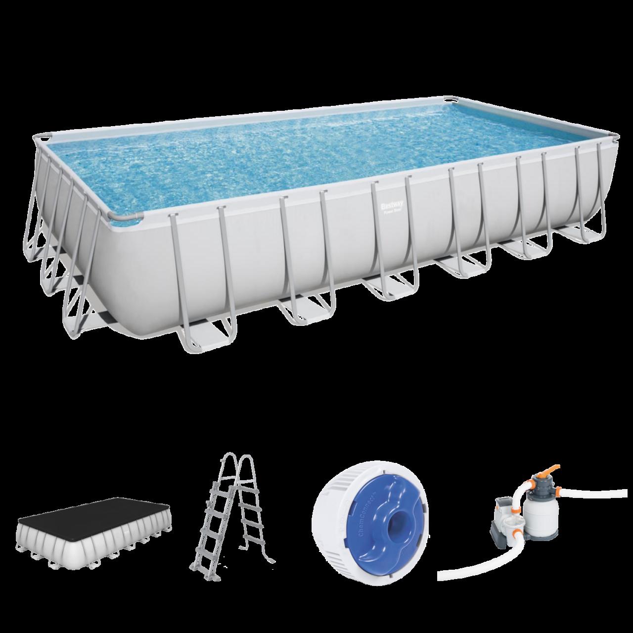 Intex 56475 Swim Center Family Lounge Swiming Pool + Getränkehalter 229 x 229 cm