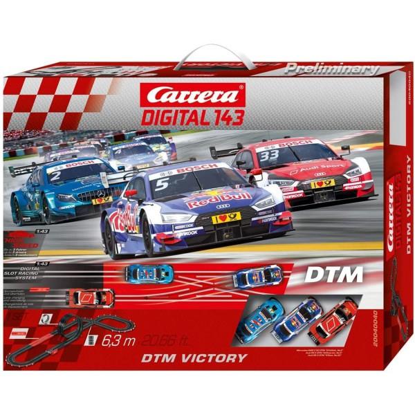 Carrera DIGITAL 143 DTM Victory 20040040 Autorennbahn Rennbahn 6,3m 3 Autos