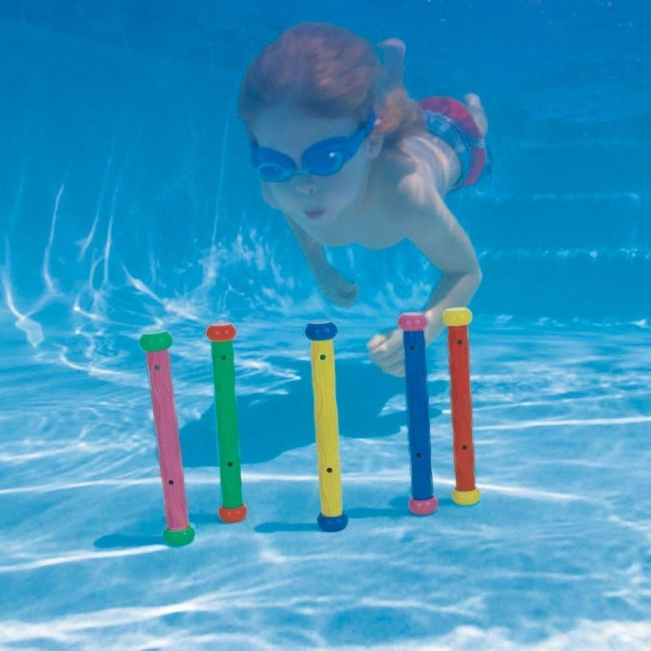 Intex 55504 - Dive Play Sticks, 5-farbig