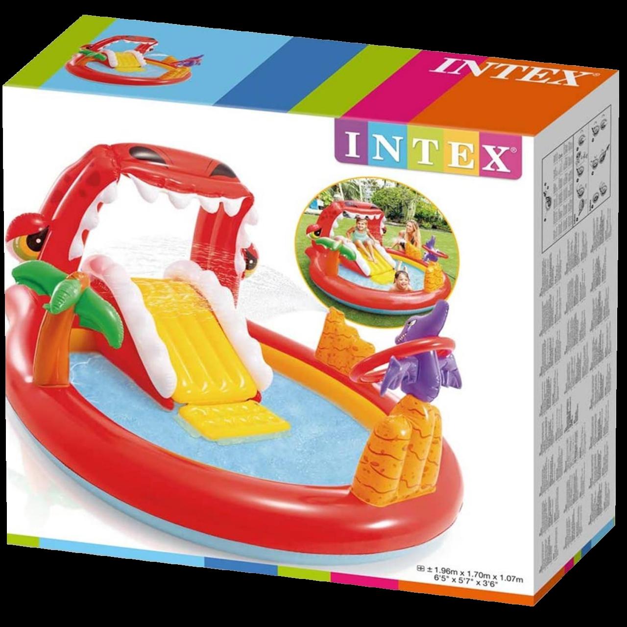 Intex Play Center Aufblasbarer Kinderpool Happy Dino 196x170x107 cm 57163
