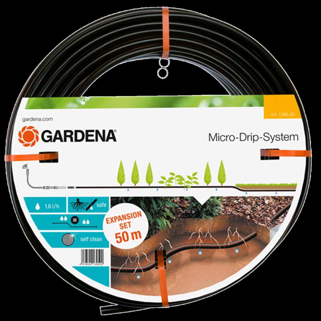 Gardena 1395-20 Tropfrohr unterirdisch 13,7mm Micro-Drip-System Erweiterungsset