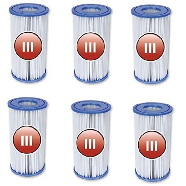 Bestway 58012 Filterkartuschen 6er-Set Größe 3
