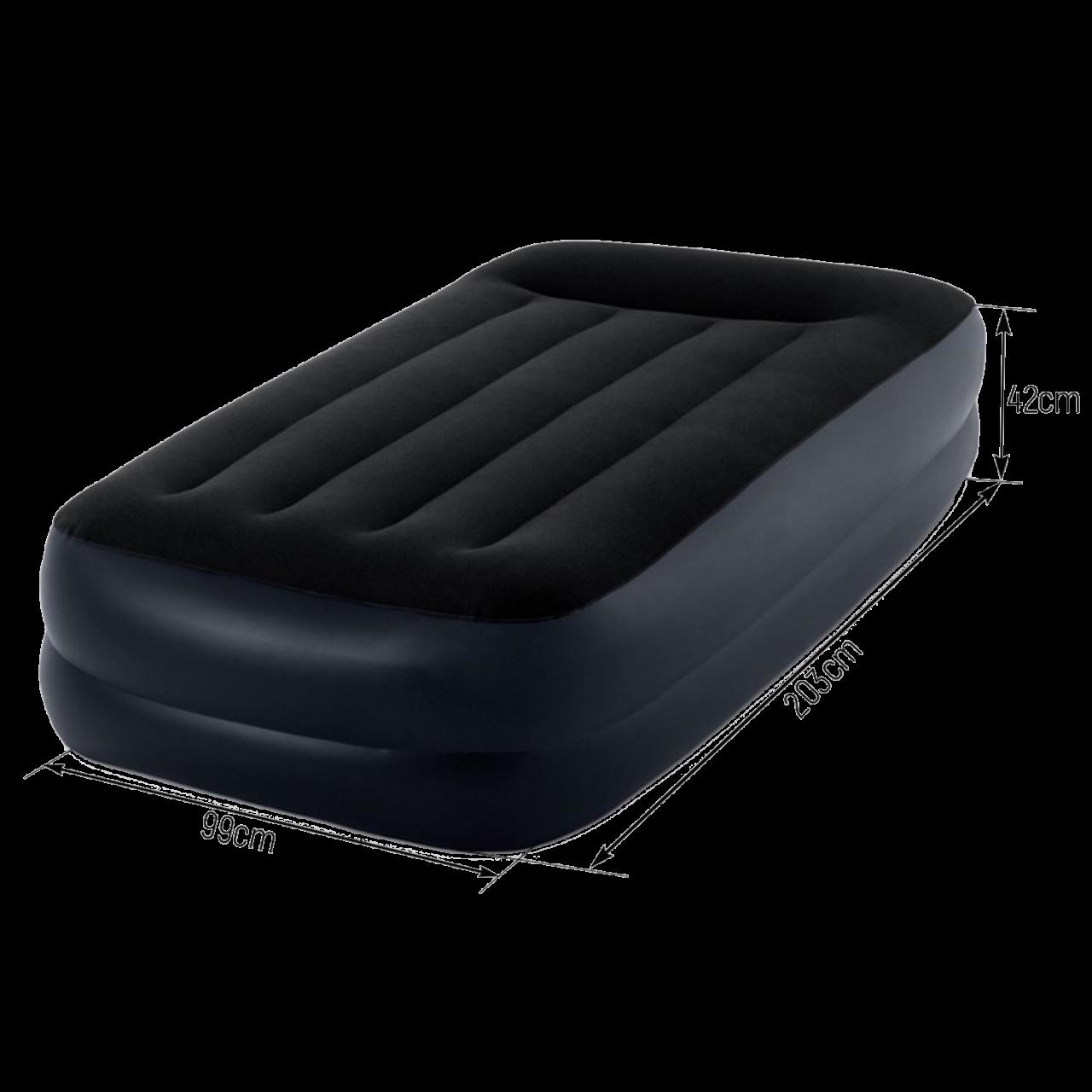 Intex Luftbett mit Pumpe Gästebett Luftmatratze selbstaufblasend 191x99x42 cm