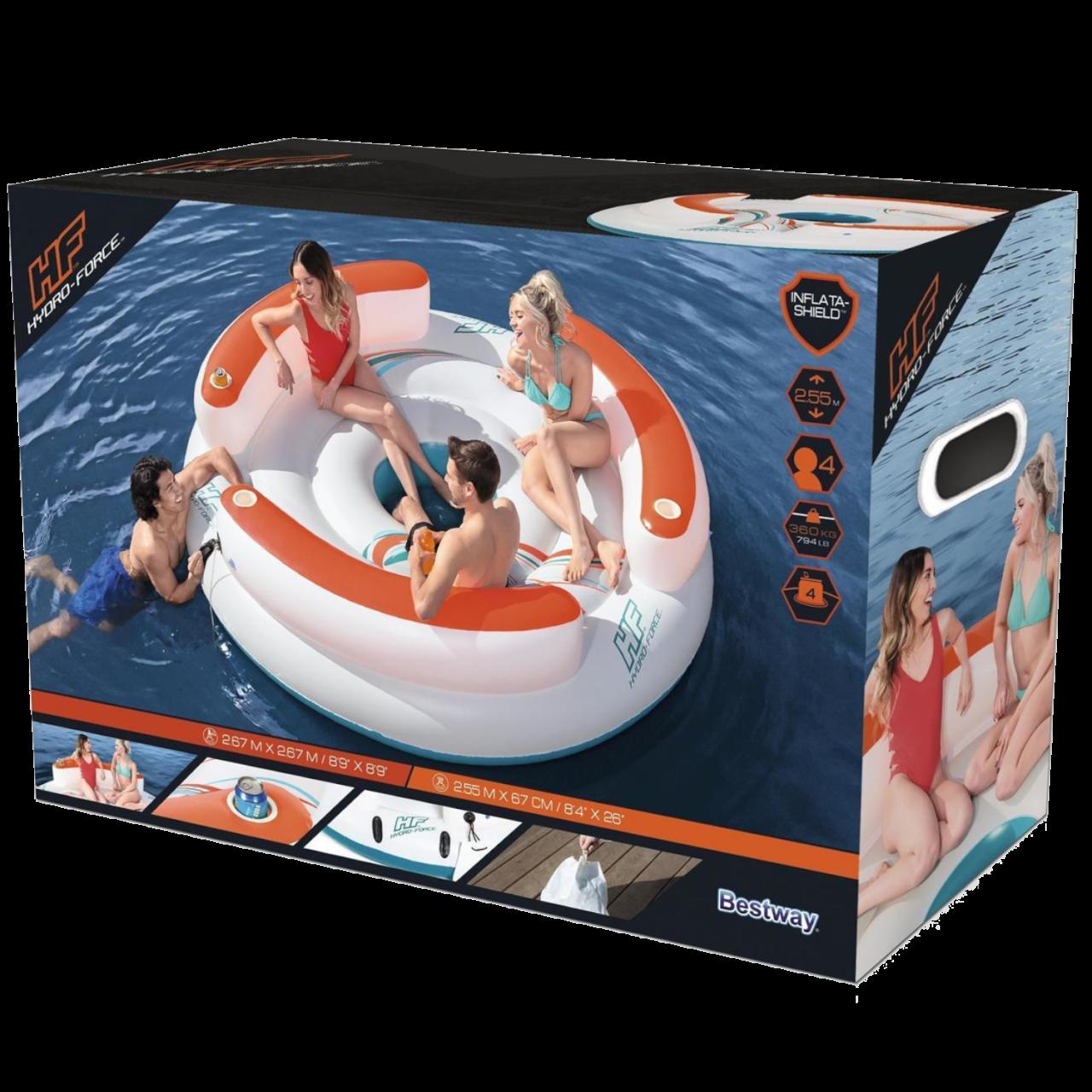 Bestway 43135 CoolerZ Schwimminsel Lazy Dayz 267x267x67cm