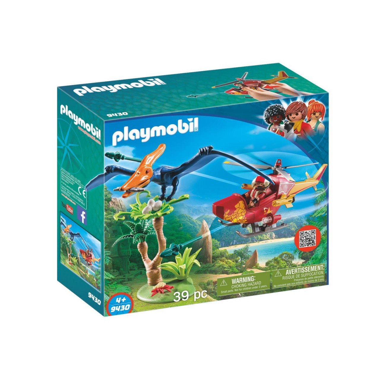 Playmobil 9430 Helikopter mit Flugsaurier