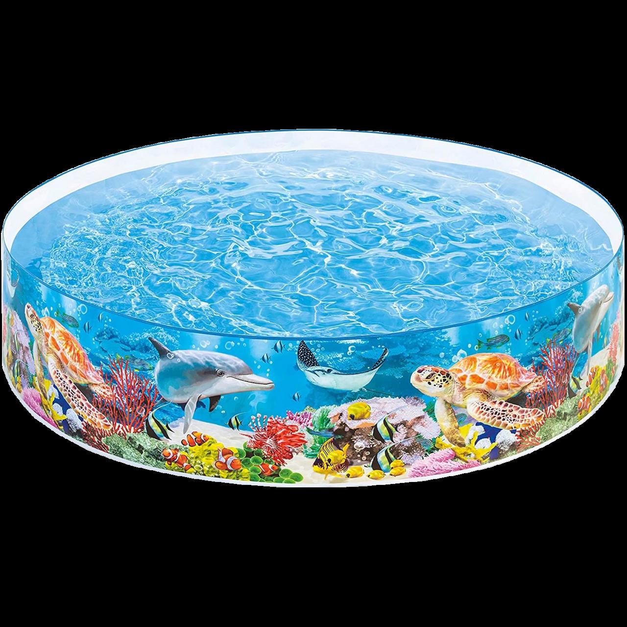 Intex 58472NP Snap-Set Coral Reef Pool 244 x 46 cm Planschbecken Kinderbecken