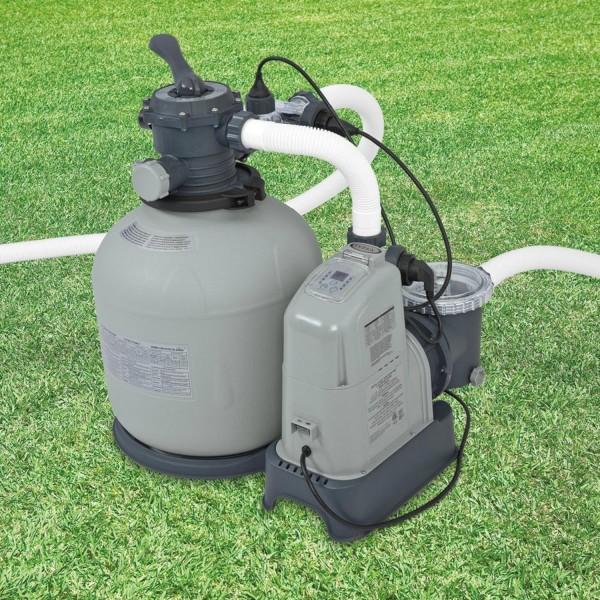 Intex 28680 Sandfilteranlage 8m³ Salzwassersystem Filter Pool Filterpumpe