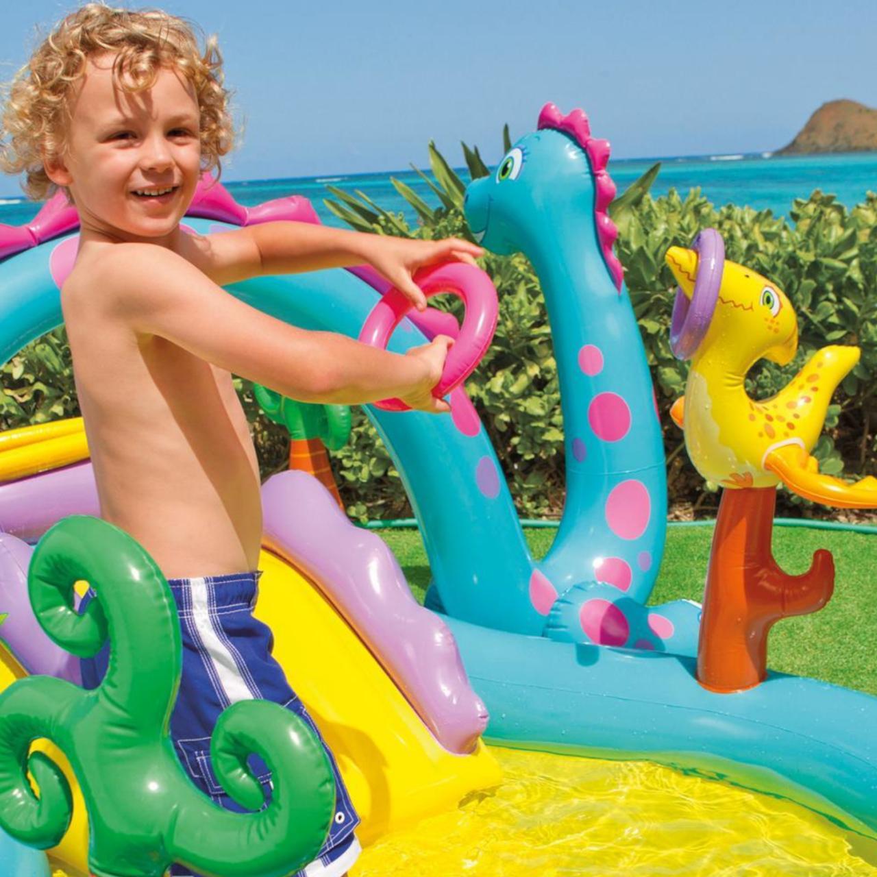 Intex 57135 Play Center Dinoland Planschbecken Pool Wasserrutsche +Bälle