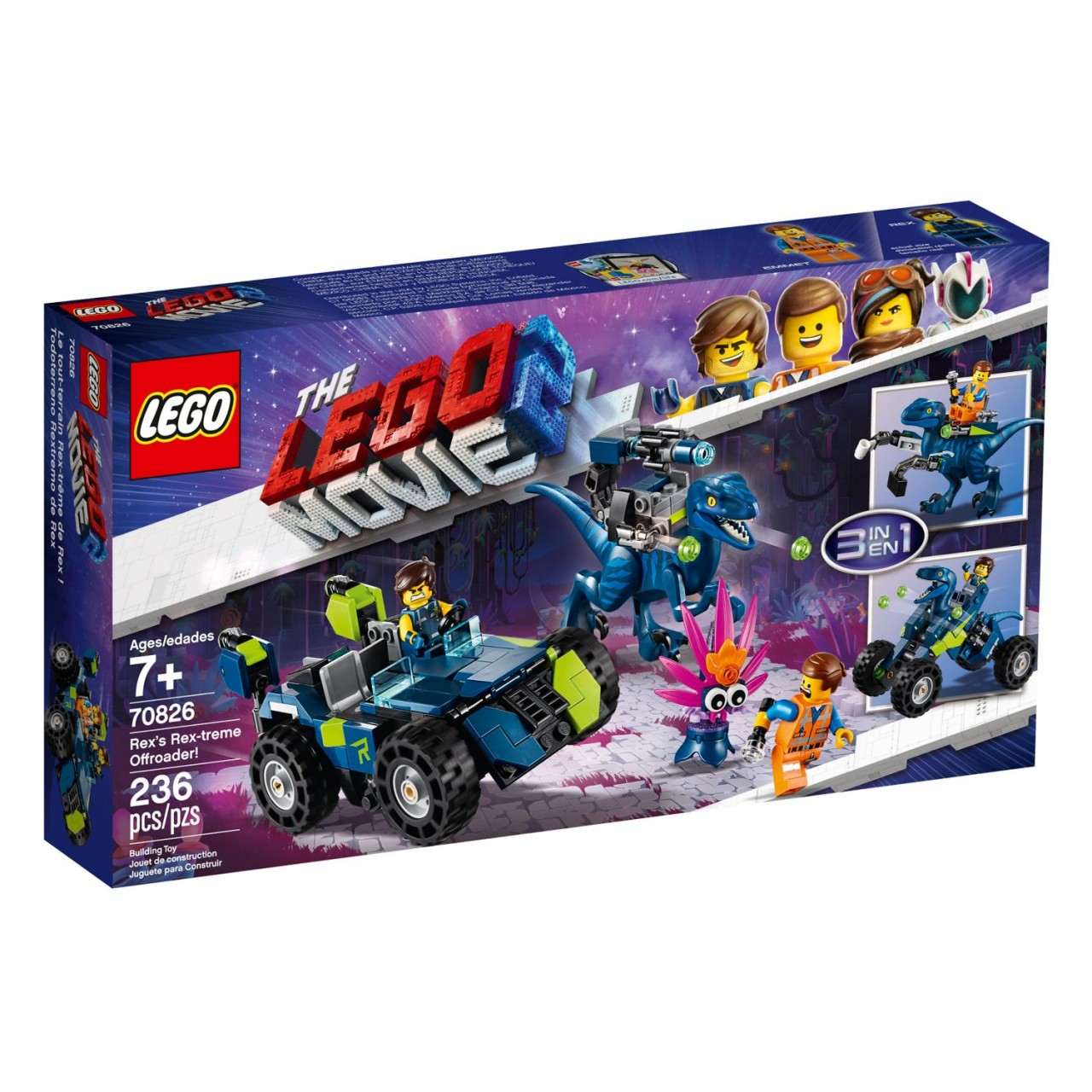 "THE LEGO MOVIE 2 70826 Rex' ""Rextremes"