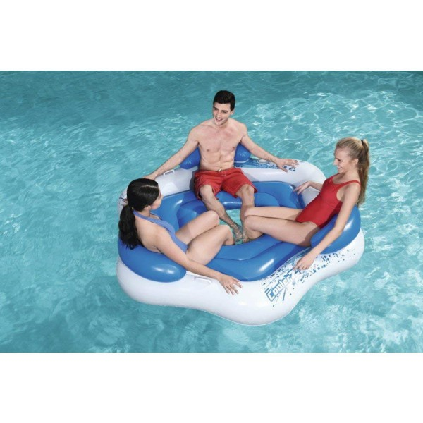 Bestway 43111 Badeinsel Schwimminsel Pool Lounge Luftmatratze 191 x 178 cm