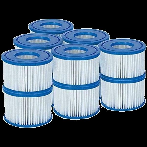 Bestway 60311 Filterkartusche Größe VI für Bestway Lay-Z-Spa Whirlpool 12 Stück