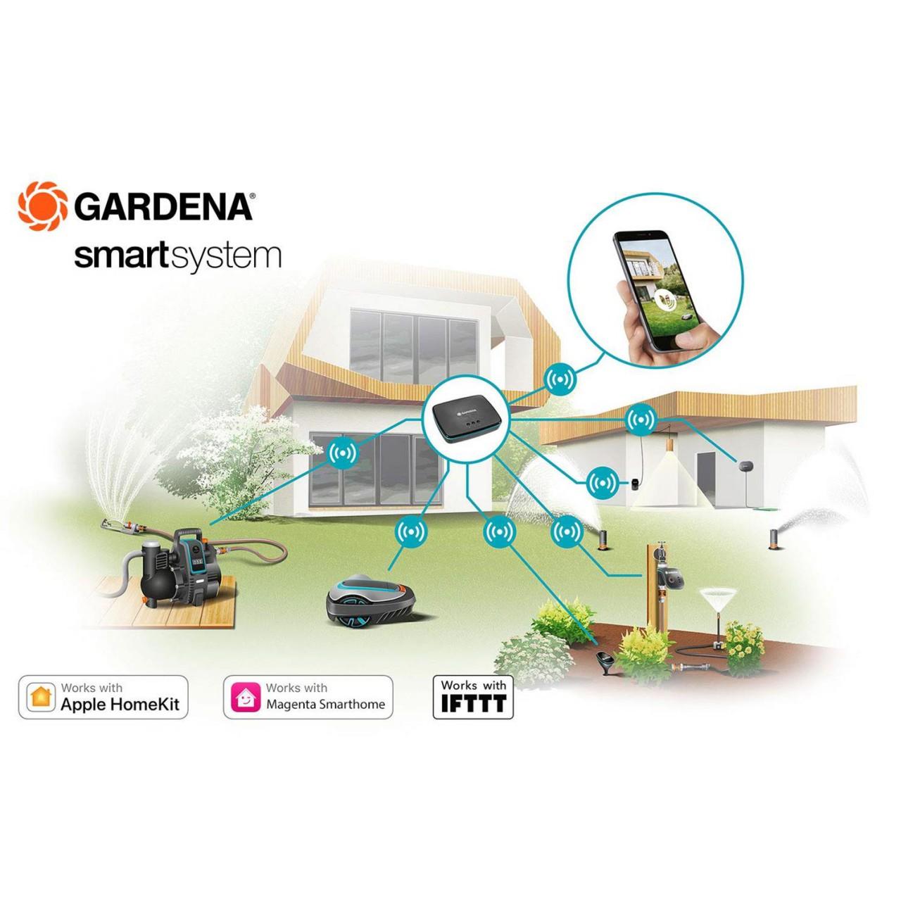 Gardena SILENO smart life Set 19113-20 Mähroboter Rasenmäher App bis zu 750m²