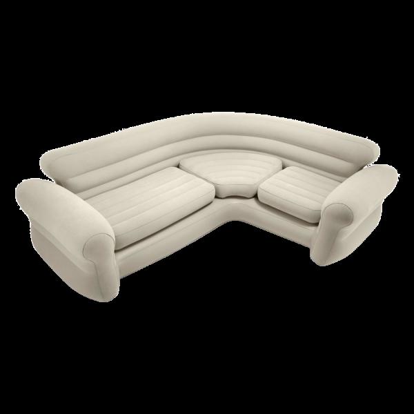 Intex Sofa Lounge Couch aufblasbar Schlafsofa Ecksofa Gästebett 257x203x76 cm