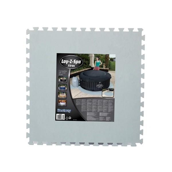 Bestway 58461 Floor Protector Bodenschutzfliesen-Set 211cm SPA und Pumpe