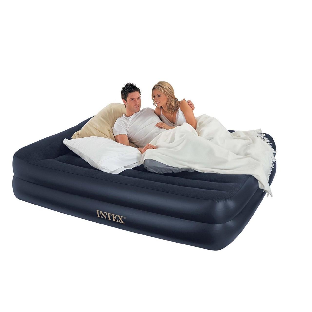 Intex 66702 Luftbett mit Pumpe Gästebett Matratze 152x203x42cm selbstaufblasend