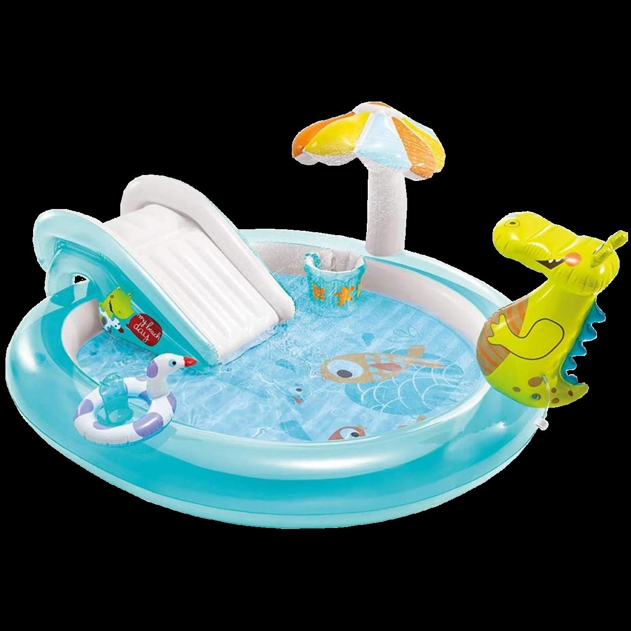 Intex Play Center Aufblasbarer Kinderpool Gator Schwimmbad 201x170x84 cm 57165