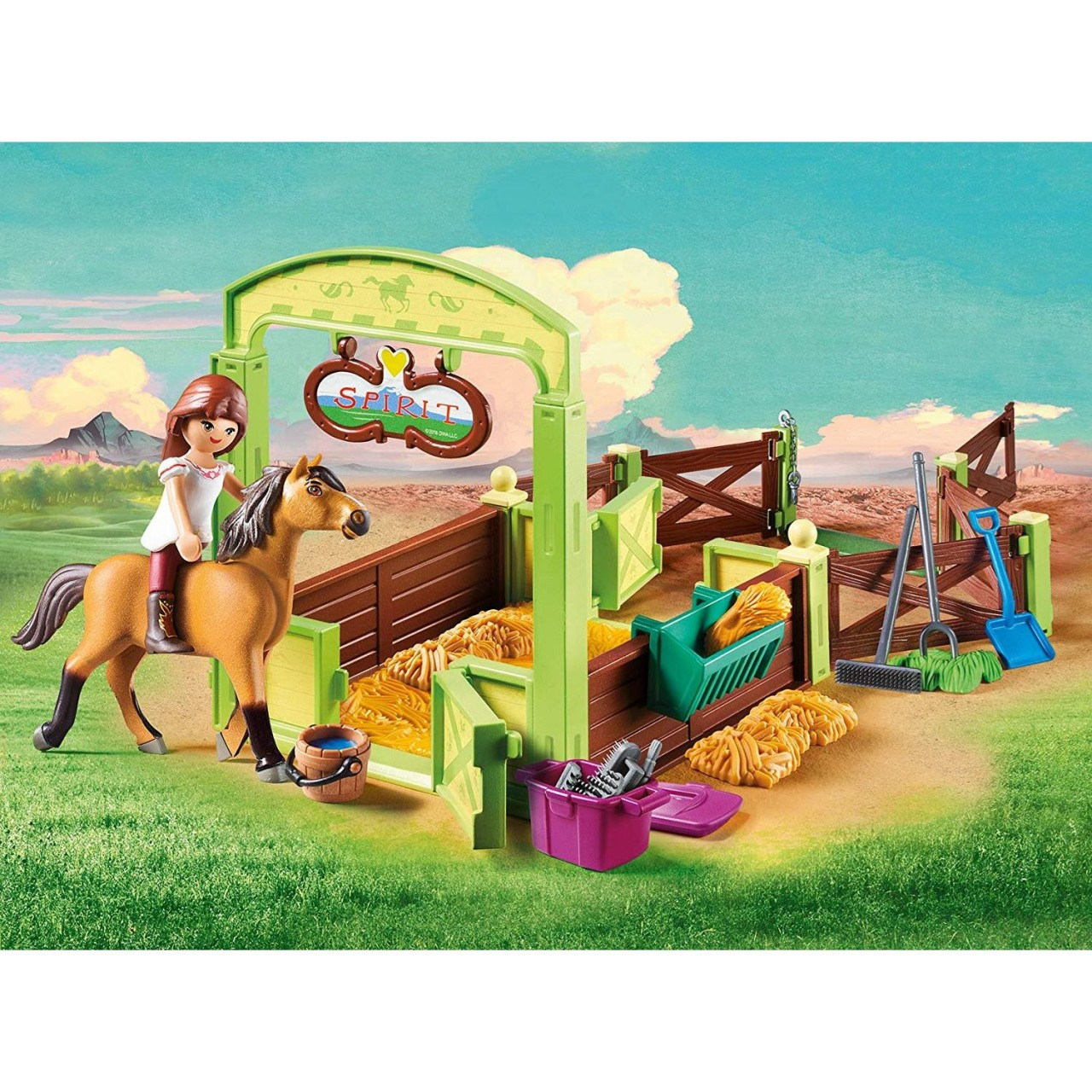 "Playmobil 9478 Pferdebox ""Lucky & Spirit"""