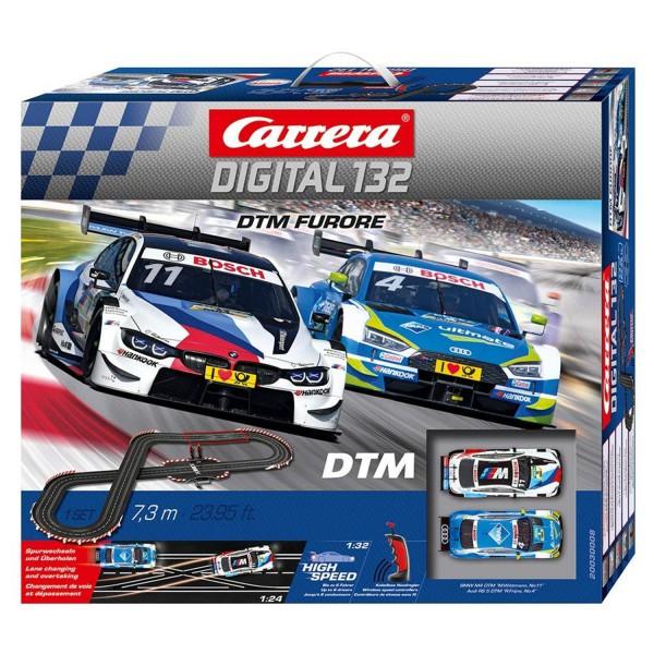 Carrera DIGITAL 132 DTM Furore 20030008 Autorennbahn Rennbahn 7,3m 2 Autos
