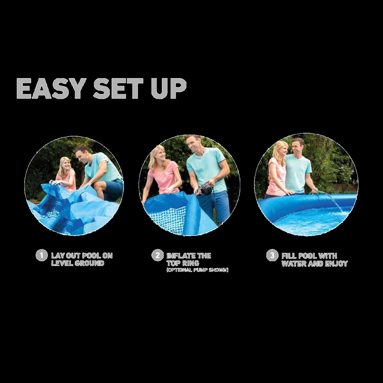 Intex 28142 Easy Set Swimming Pool Ø396x84cm Aufstellpool Filterpumpe Rundpool