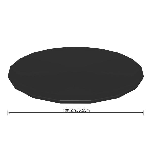 Bestway 58039 Flowclear PVC-Abdeckplane Ø555 cm für Steel Pro Max Pool und Power Steel Pool Ø 549cm