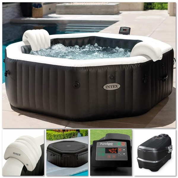 Intex 28462 Whirlpool Pure SPA Bubble Jet Massage 218x71cm aufblasbar 6 Personen