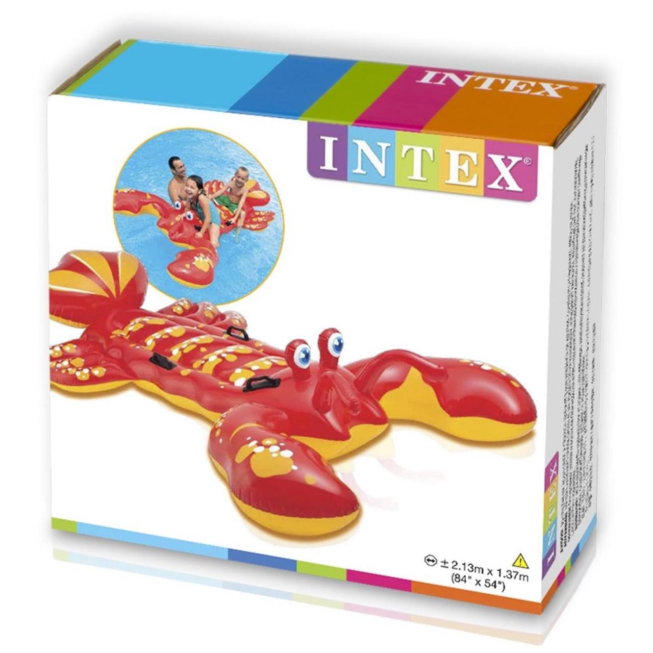 INTEX Reittier Hummer 213x137cm Luftmatratze Schwimmtier Wassertier Aufblastier