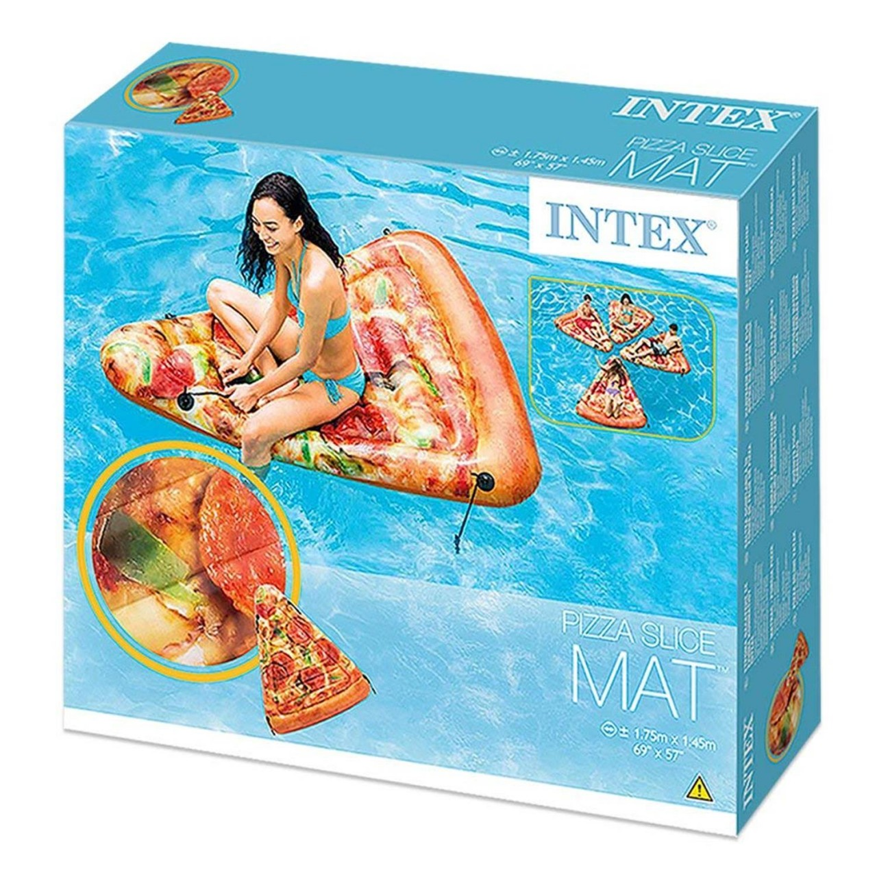 Intex 58752 Luftmatratze Pizza Lounge Matratze 175x145 cm Badeinsel aufblasbar