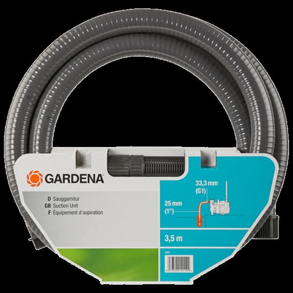 Gardena 1411-20 Sauggarnitur 3,5m Saugschlauch für Pumpen anschlussfertig 25mm