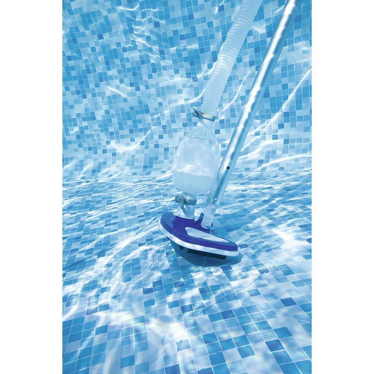 Bestway Reinigungsset Deluxe Pool mit Saugerkopf und Oberflächenskimmer 58237
