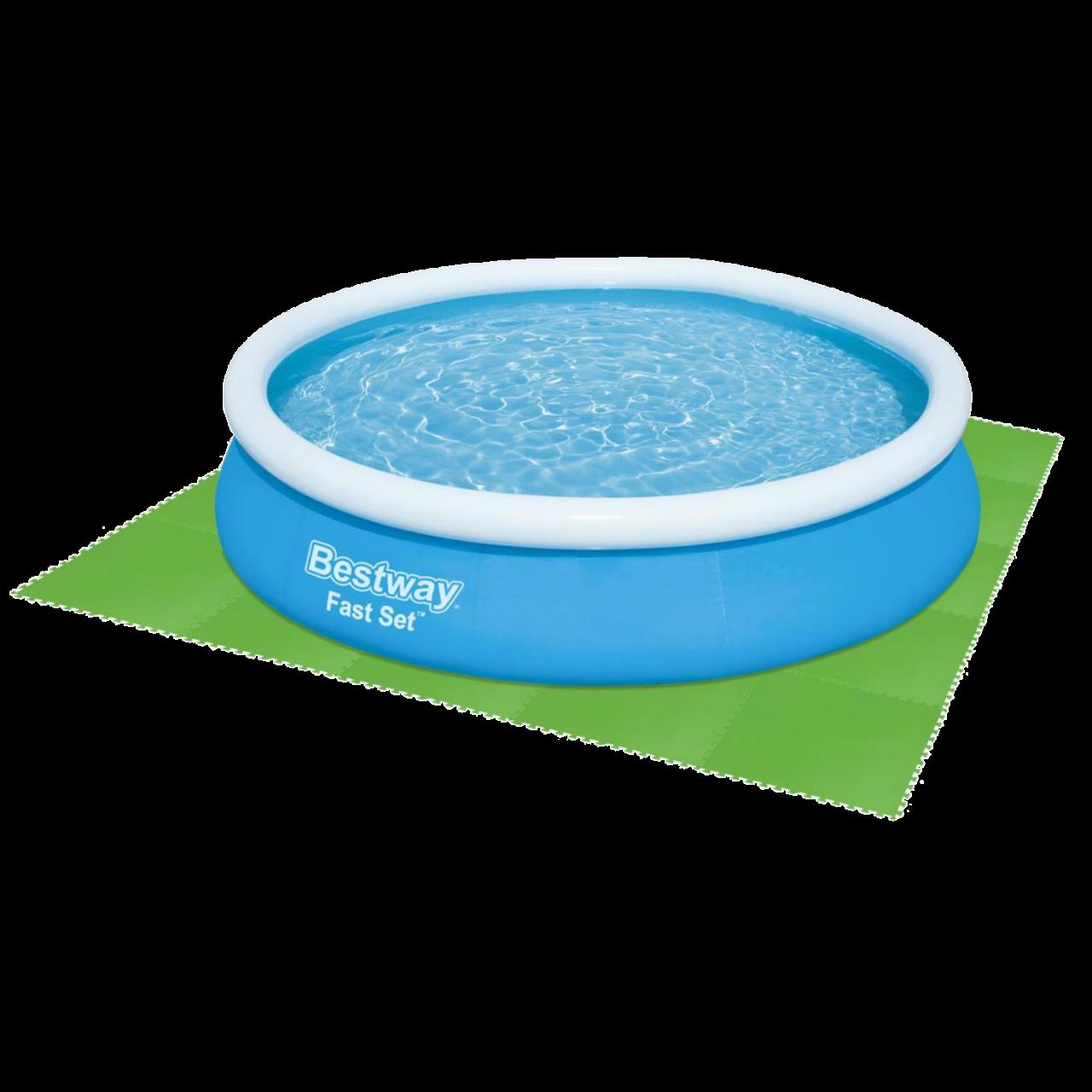 Bestway 58636 Flowclear Bodenschutzfließen Pool Bodenschutz Poolschutz 9 Stück