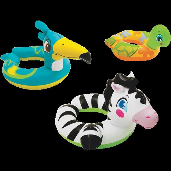 Intex Kinder Schwimmring Schwimmreifen mit Tierkopf Wasserspielring 59220