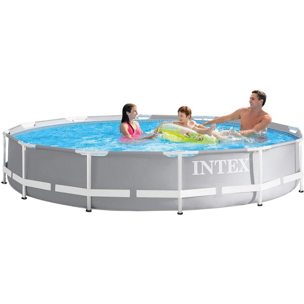 Intex 26710 Swimming Pool Frame Prism Ø366 x 76 cm Schwimmbecken Schwimmbad Pool
