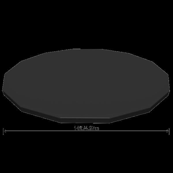 Bestway 58248 Flowclear PVC-Abdeckplane ø427 cm grau