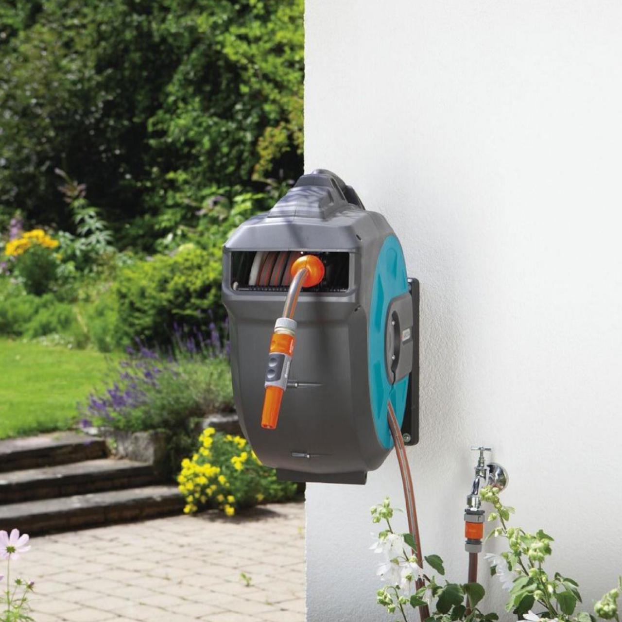 Gardena 8024-20 Wand-Schlauchbox 35 roll-up automatic Schlauchtrommel Wand 35m