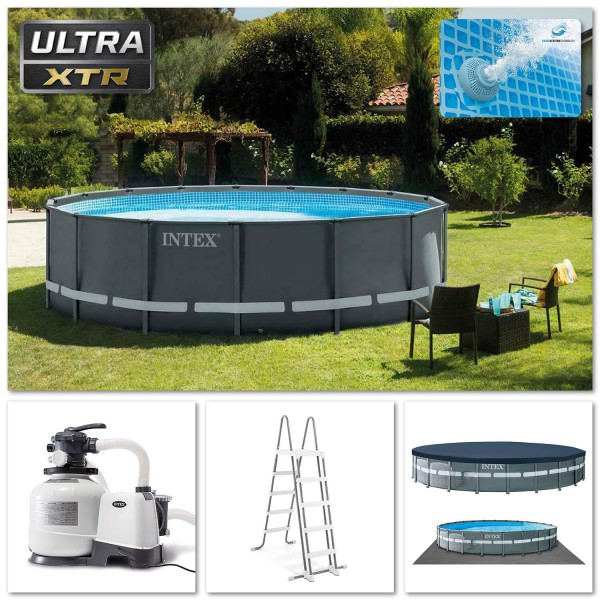 Intex Swimming Pool XTR Ultra Frame Pool Set Ø732x132cm Rondo Komplett-Set 26340