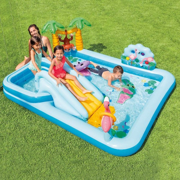 Intex Play Center Jungle Adventure Planschbecken Pool Wasserrutsche aufblasbar