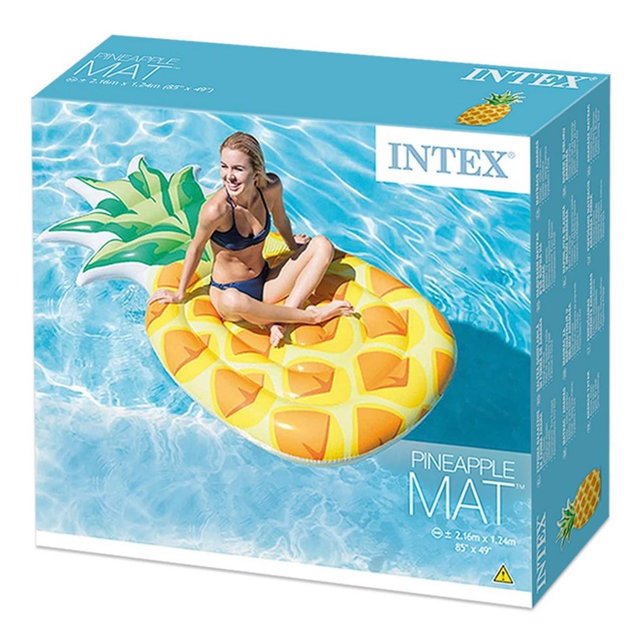 Intex 58761 Luftmatratze Ananas Lounge Matratze Pineapple 216x124 cm Badeinsel