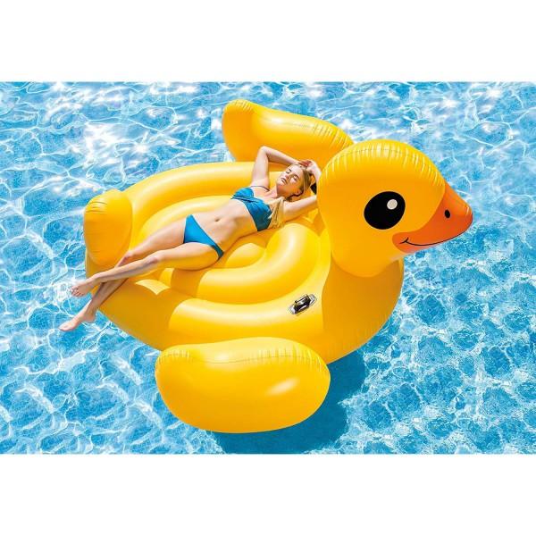Intex Ente Badeinsel Schwimmliege Lounge Luftmatratze 203x203x112 cm 57286