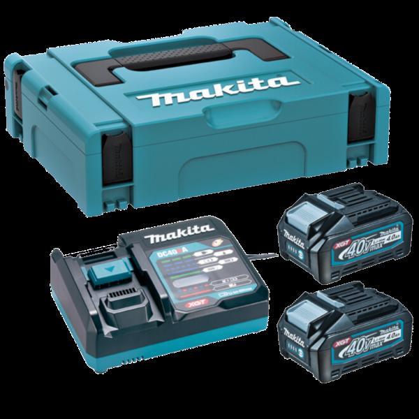 Makita 191J97-1 Akku-Power Kit im MAKPAC 2x 4,0 Ah BL4040 Akkus Schnellladegerät