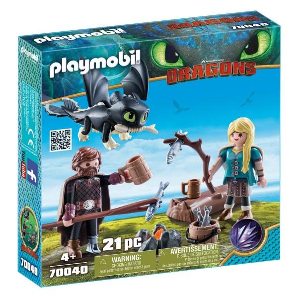 Playmobil 70040 Hicks und Astrid mit Babydrachen