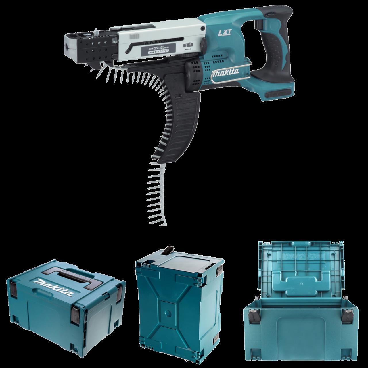 Makita DFR550ZJ Akku-Magazinschrauber im MAKPAC Gr. 3 inkl. Einlage, 18V, 25-55 mm, 4.000 min-1