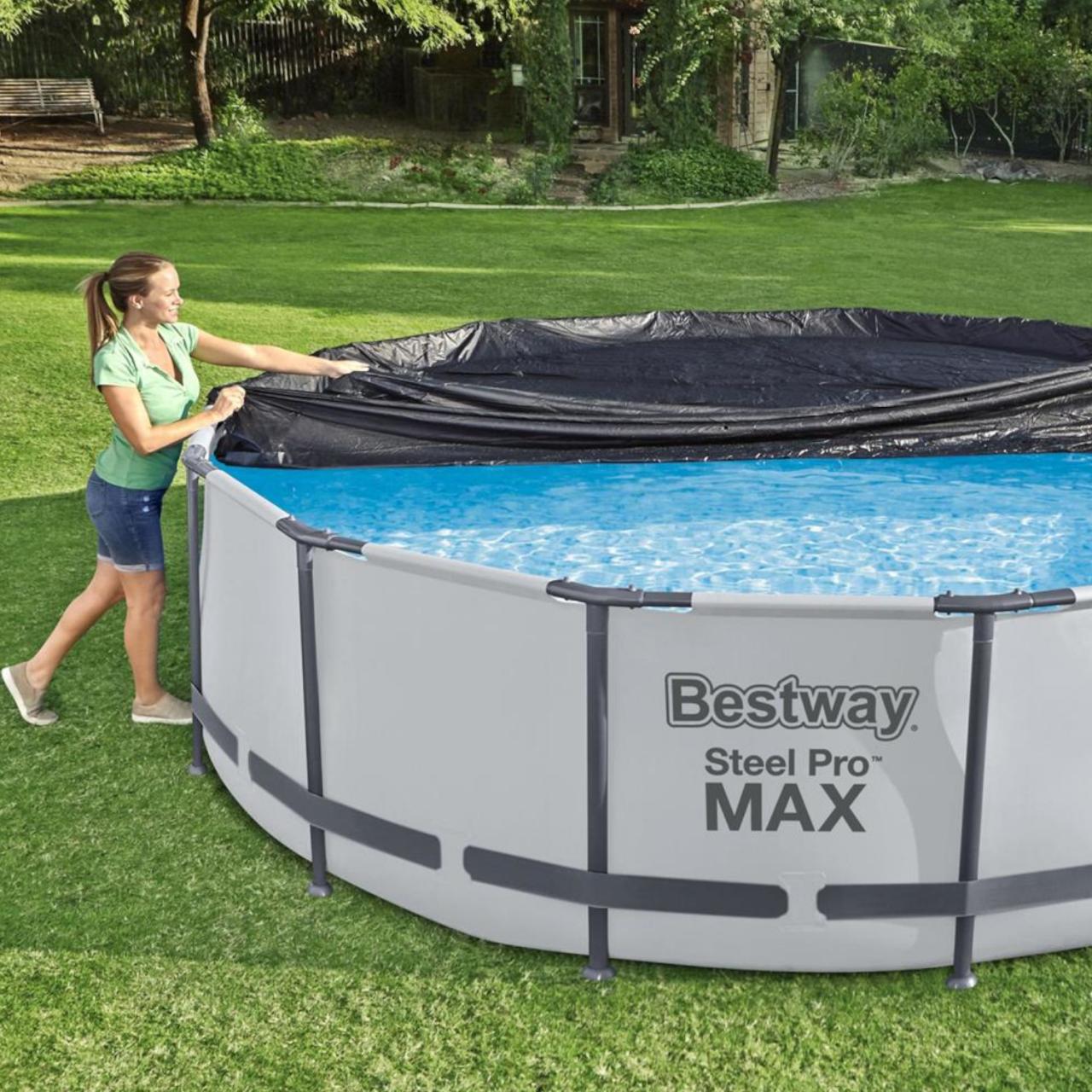 Bestway 58037 Abdeckplane für Frame Pool Durchmesser 366 cm