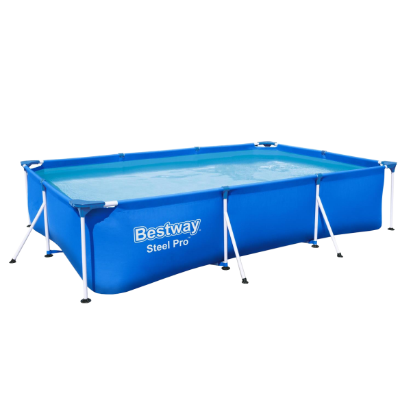 Bestway 56404 Frame Pool Rechteck 300x201x66cm Stahlrohrbecken STEEL PRO