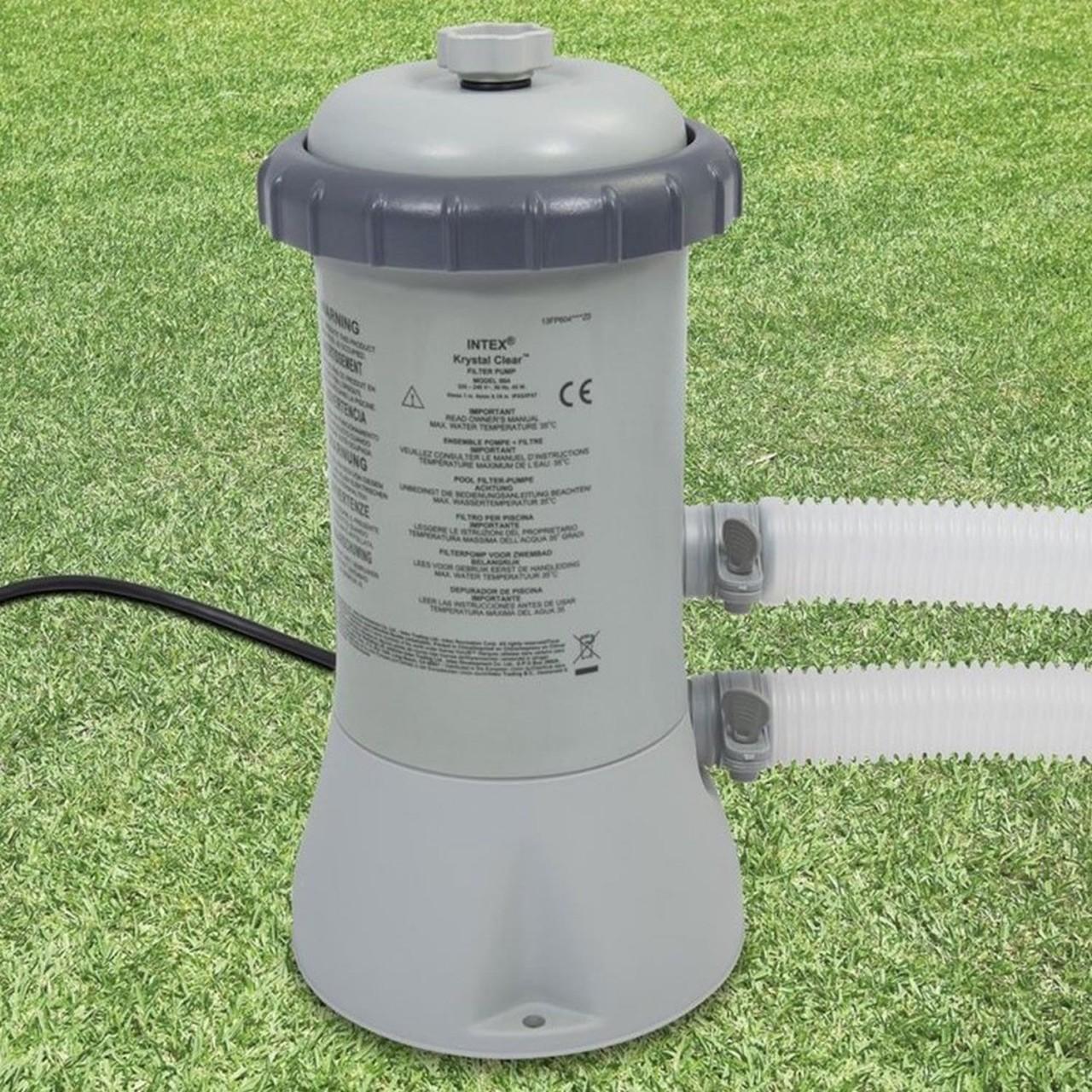 Intex 28604 Pool Filterpumpe 2.271 l/h Schwimmbad Pumpe Filteranlage + Kartusche