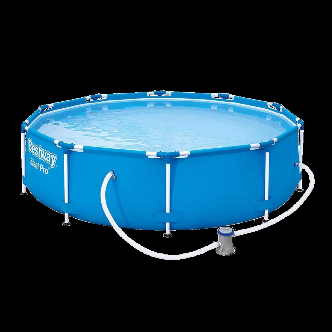 Bestway 56679 Steel Pro Frame Pool Set rund mit Filterpumpe 305 x 76 cm