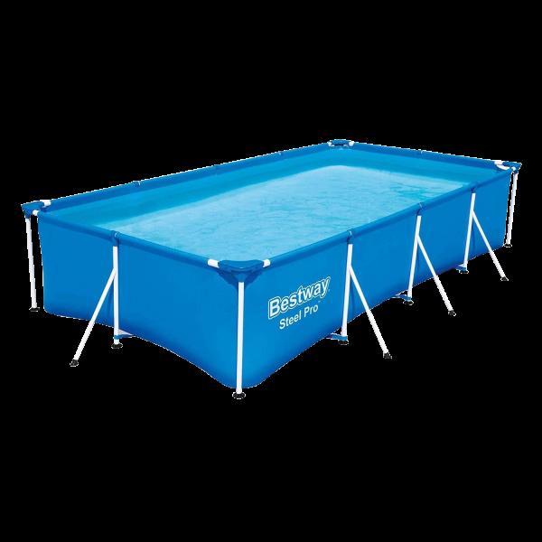 Bestway 56405 Frame Pool Stahlrohrbecken 400x211x81cm Family Schwimmbecken
