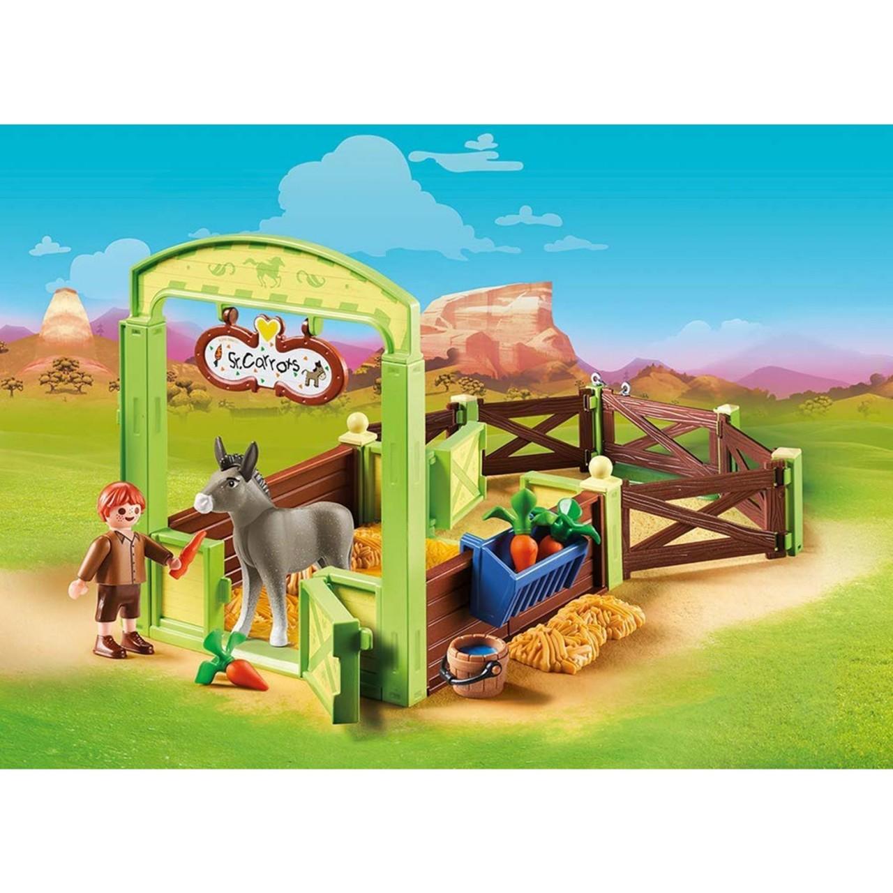 Playmobil 70120 Pferdebox Snips & Herr Karotte